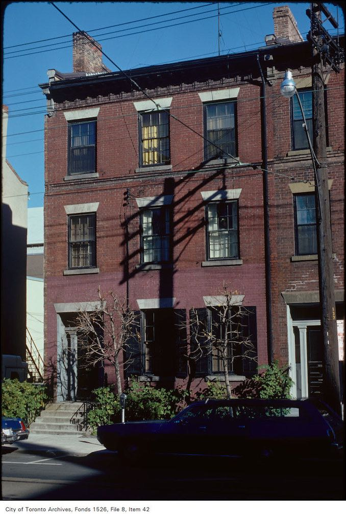 1975 - View of Georgian architecture on Church Street