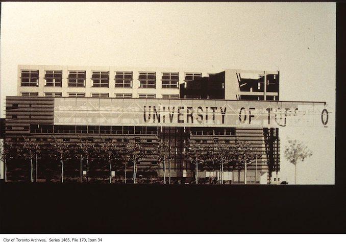 1980 - Graduate House, University of Toronto, east side of Spadina at Harbord