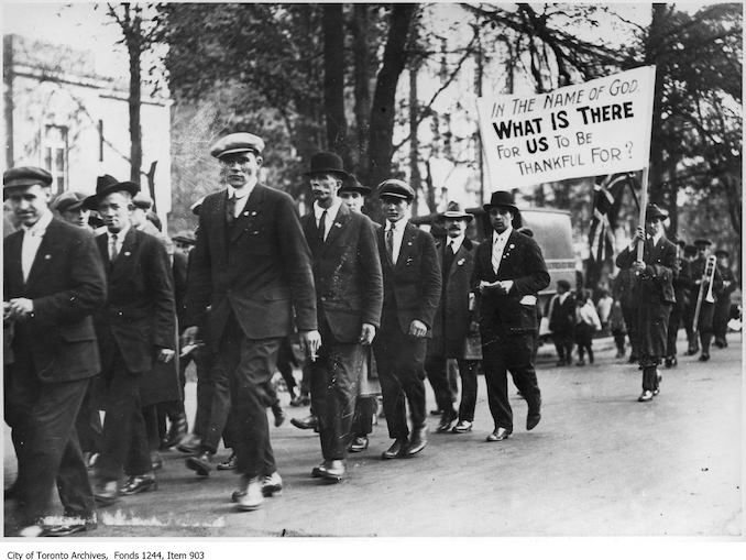 Veterans Protest, 1919 - Riots and Protests