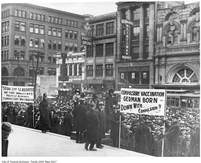 Anti-Vaccination Rally, 1920 - Riots and Protests