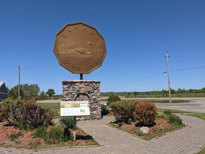 """Next on the list is the Giant Loonie! Yes, a large Canadian dollar, still no match for the """"Big Nickel"""" though!"""