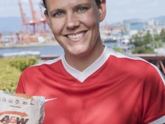 Christine Sinclair Burgers to Beat MS campaign.