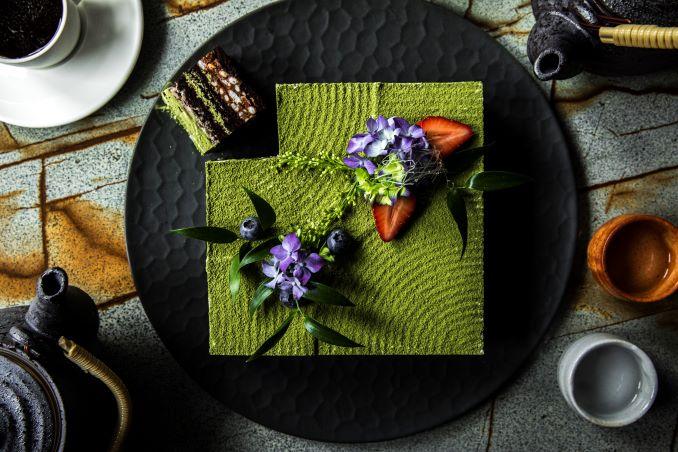 Matcha Chocolate Hazelnut Layer Cake
