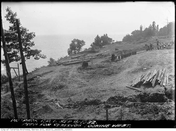 1932 - Area for Reservoir Looking West