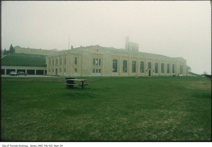 1980s - R.C. Harris Water Filtration Plant looking north