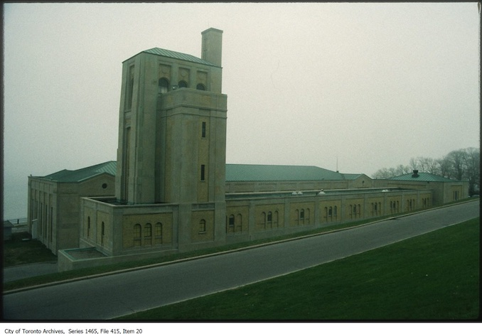 1980s - R.C. Harris Water Filtration Plant looking south